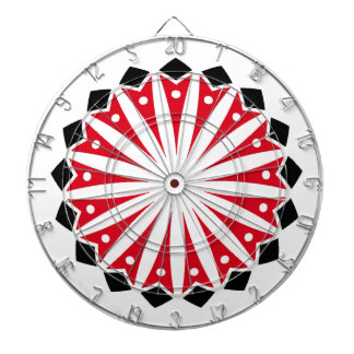 Geométrico negro blanco rojo