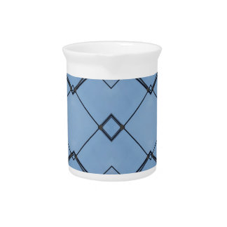 Geométrico negro moderno del fondo del azul de jarra de beber