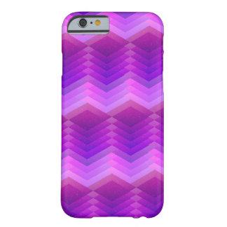 Geométrico púrpura y rosado modelado funda para iPhone 6 barely there