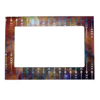 Geométrico tribal del espacio de modelo de las marcos magnéticos para fotos
