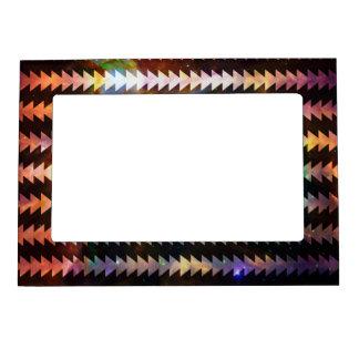 Geométrico tribal del espacio de modelo de las marcos magnéticos de fotos