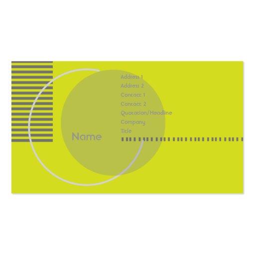 Geométrico verde - Busihness Tarjetas De Visita