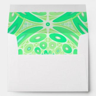 Geométrico verde del kiwi sobres