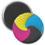 Geometrics #1 CmyK Refrigerator Magnet