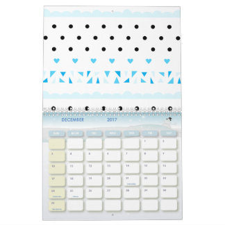 Geometrics azul calendarios de pared