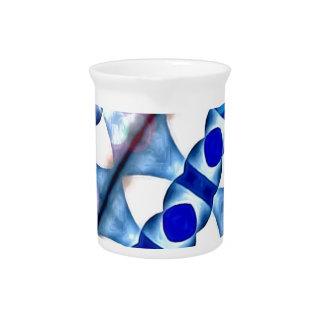 Geometrics diagonal moderno en Blue3500x3500.jp Jarras
