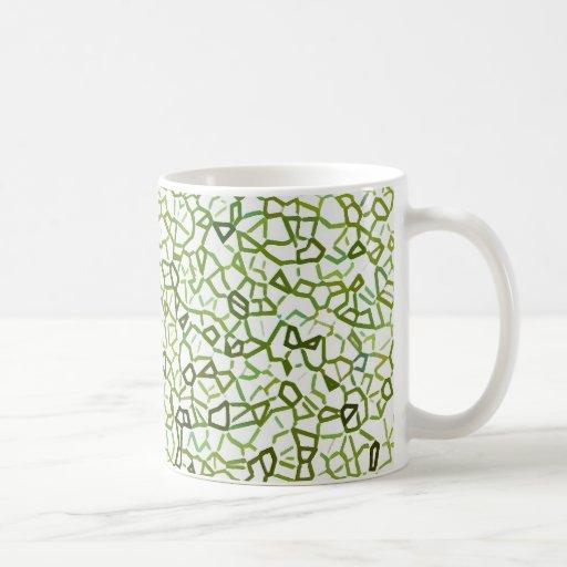Geometrics Freeform verde Taza