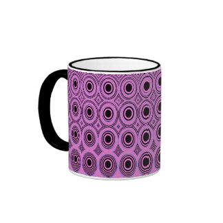 Geometrics Pink Circles Tea/Coffee Mugs