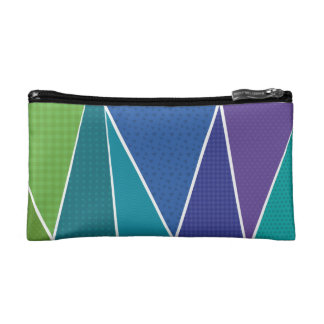 Geometrics: The Blue One Makeup Bag