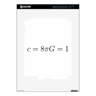 Geometrized units for General Relativity Decals For iPad 3