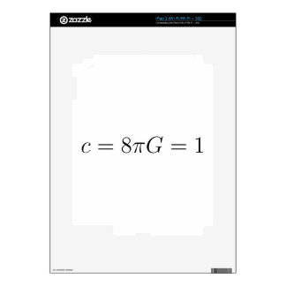 Geometrized units for General Relativity Decals For The iPad 2