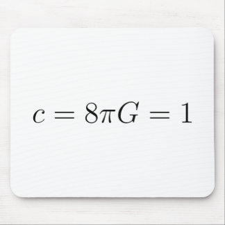 Geometrized units for General Relativity Mouse Pad