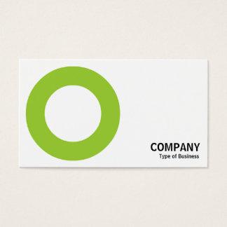 Geometropolis - Bold Circle - Martian Green Business Card