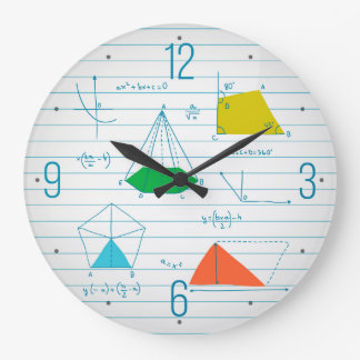Geometry And Maths Graphs Round Wall Clocks