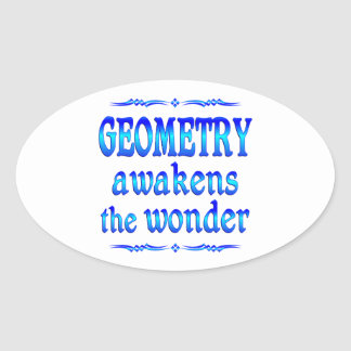 Geometry Awakens Oval Sticker