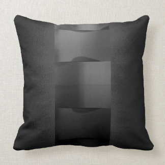 Geometry Black Graphite Monochrom 3-Dimensional Throw Pillow