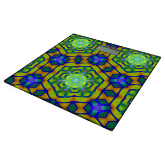 Geometry Blue Green Hexagon Vision Bathroom Scales Bathroom Scale