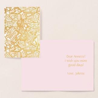 Geometry cool pattern foil card