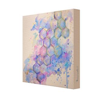 Geometry geometric pattern art watercolor water canvas print
