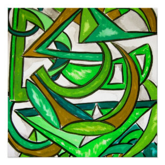 Geometry Homework-Abstract Art Hand Painted Poster