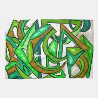 Geometry Homework - Abstract Art Hand Towel