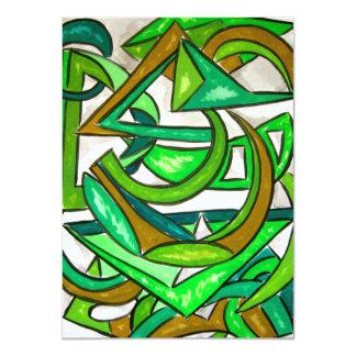 Geometry Homework - Abstract Art Handpainted Card