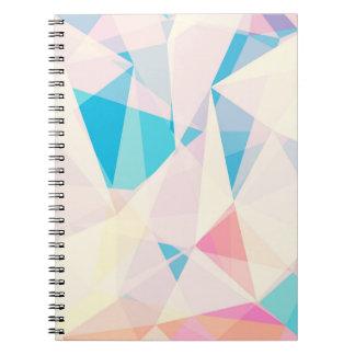 Geometry I Pastel Pink Spiral Notebook