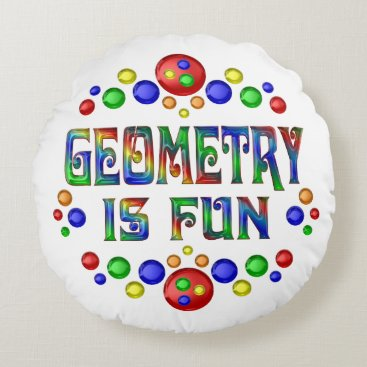 Beach Themed Geometry is Fun Round Pillow