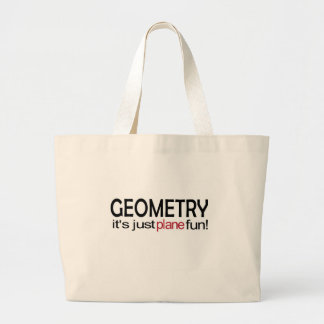Geometry _ it's just plane fun canvas bag