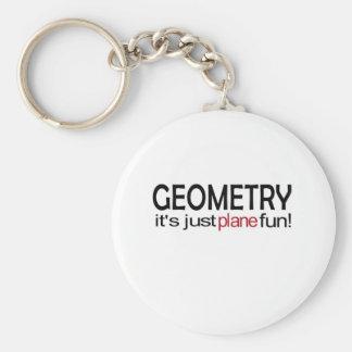 Geometry _ it's just plane fun key chains