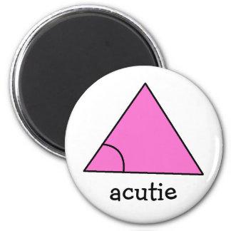 Geometry Math Teacher Gift Triangle Acute Acutie 2 Inch Round Magnet