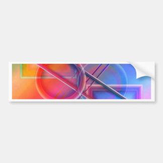 geometry pastell no. 2 created by Tutti Bumper Sticker