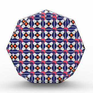 Geometry Pattern Illustration Retro Design Acrylic Award