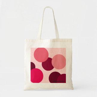 Geometry Pink Dots Tote Bag