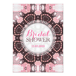 Geometry Pink Mandala Boho Bridal Shower Invites