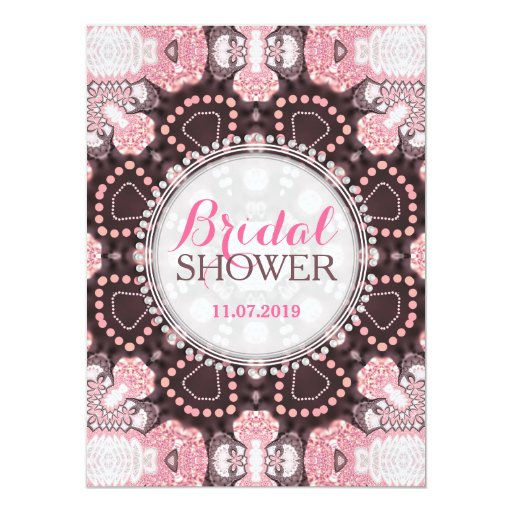 Geometry Pink Mandala Boho Bridal Shower Invites
