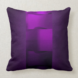 Geometry Plum Purple 3-Dimensional Amethyst Throw Pillow