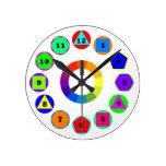geometry shapes round clocks