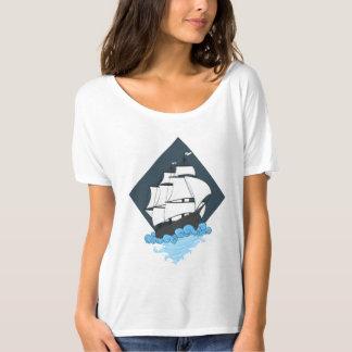 Geometry Ship on water women's shirt