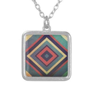 Geometry Square Pendant Necklace