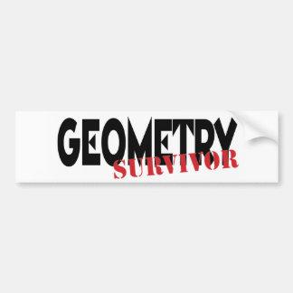 Geometry Survivor Bumper Sticker