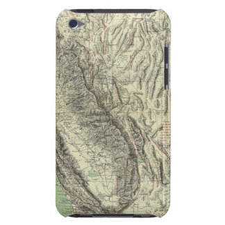 Geomorphic map, California, Nevada Barely There iPod Cases