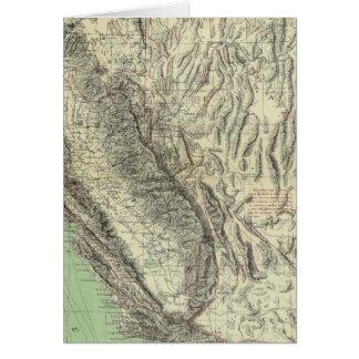 Geomorphic map, California, Nevada Cards