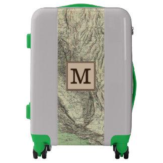 Geomorphic map, California, Nevada | Monogram Luggage