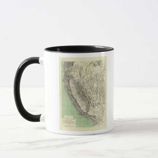 Geomorphic map, California, Nevada Mug