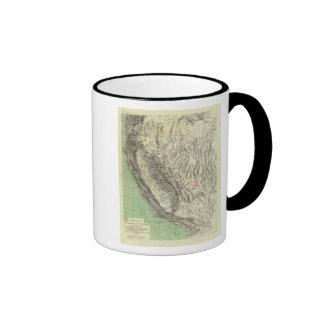 Geomorphic map, California, Nevada Coffee Mug