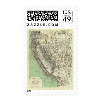 Geomorphic map, California, Nevada Stamp