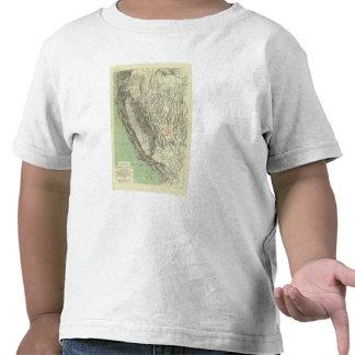 Geomorphic map, California, Nevada Shirts