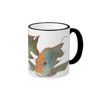 "Geophagus sp. ""Tapajos Orange Head"" Coffee Mugs"