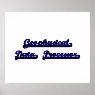 Geophysical Data Processor Classic Job Design Poster